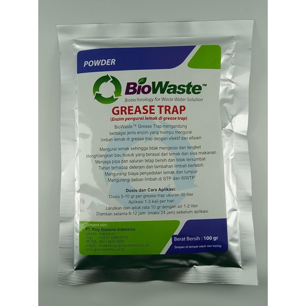 Biological Wastewater Treatment Biowaste Grease Trap 100 gram