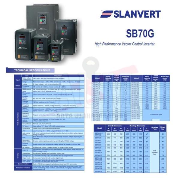 Inverter Slanvert SB70G 3phase 45KW