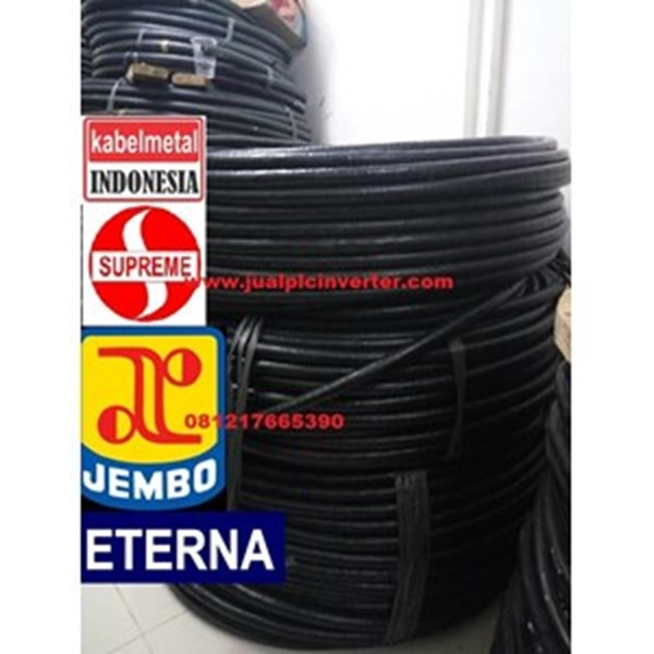 Kabel Listrik NYY  Eterna  4x4 mmsq Hitam