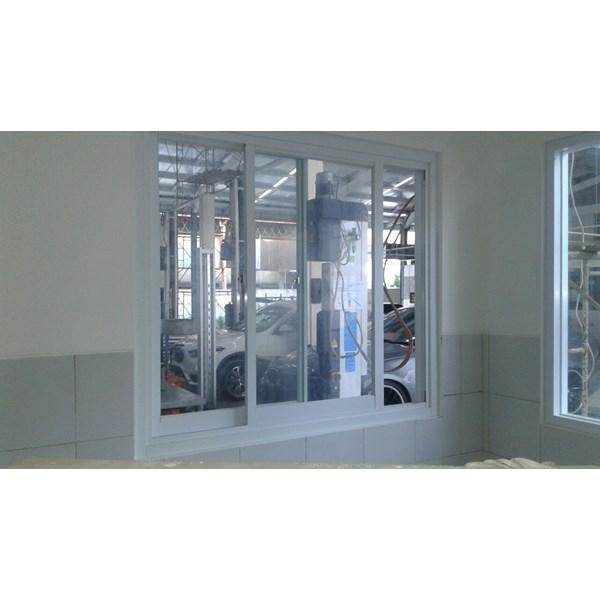 Jendela Minimalis Aluminium Kaca