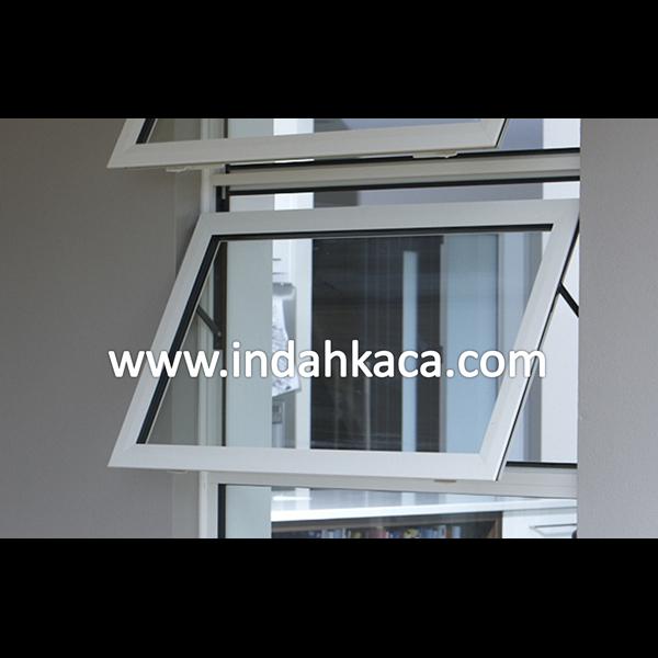 Jendela Aluminium Kaca Casement