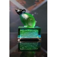 Crystal Crafts Crystal Glaze Sculpture Zodiac Rat