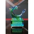Hiasan Kerajinan Patung Kristal Shio Naga (Coloured Glaze  -- Crystal Dragon) 1