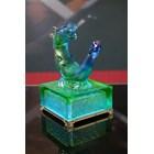 Hiasan Kerajinan Patung Kristal Shio Naga (Coloured Glaze  -- Crystal Dragon) 3