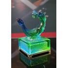 Hiasan Kerajinan Patung Kristal Shio Naga (Coloured Glaze  -- Crystal Dragon) 2