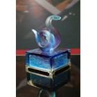 Kerajinan Crystal  Coloured Glaze Shio (Snake) 2