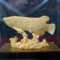 Patung Emas Lapis 24K Ikan Arwana