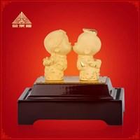 Distributor Pajangan Patung Souvenir Couple Lapisan Emas 24K Tian Mi Mi 3