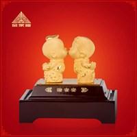 Jual Pajangan Patung Souvenir Couple Lapisan Emas 24K Tian Mi Mi 2