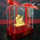 Display 12Shio Rat Statue 24 k Gold Coating Souvenirs 4