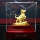 12Shio Cow Sculpture display Souvenirs Gold 24 k 4