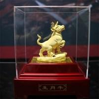 Distributor Pajangan 12Shio Patung Sapi Souvenir Lapisan Emas 24K 3
