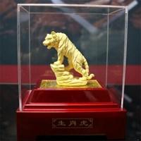 Pajangan 12Shio Patung Harimau Souvenir Lapisan Emas 24K