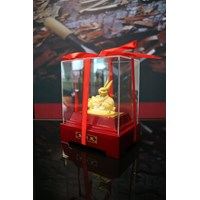 Beli Pajangan 12Shio Patung Kelinci Souvenir Lapisan Emas 24K 4