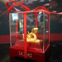 Distributor Pajangan 12Shio Patung Ular Souvenir Lapisan Emas 24K 3