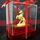 Display 12Shio Statue Mares Souvenir Gold 24 K 5
