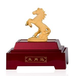 Display 12Shio Statue Mares Souvenir Gold 24 K