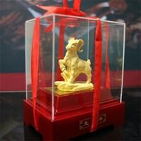 Distributor Pajangan 12 Shio Patung Kambing Souvenir Lapisan Emas 24K 3