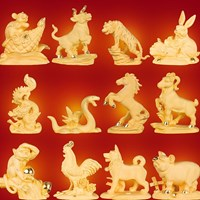 Beli Pajangan 12 Shio Patung Kambing Souvenir Lapisan Emas 24K 4