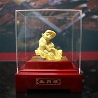Pajangan 12Shio Patung Monyet Souvenir Lapisan Emas 24K