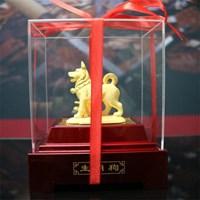 Distributor Pajangan 12Shio Patung Anjing Souvenir Lapisan Emas 24K 3