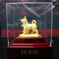 Jual Pajangan 12Shio Patung Anjing Souvenir Lapisan Emas 24K 2