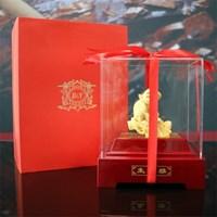Pajangan 12Shio Patung Anjing Souvenir Lapisan Emas 24K Murah 5