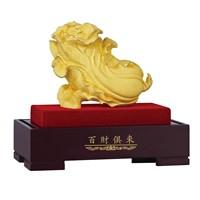 Pajangan  Patung Kubis Bai Cai Ju Lai Souvenir Lapisan Emas 24K