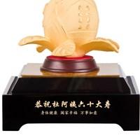 Jual Pajangan  Patung Sou Thao Buah Persik Souvenir Lapisan Emas 24K 2