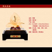 Pajangan  Patung Sou Thao Buah Persik Souvenir Lapisan Emas 24K Murah 5