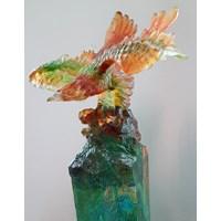 Pajangan Patung Elang  Souvenir Kristal Kaca Murah 5
