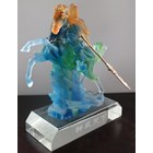 Guan Yu Statue Crystal Glass Souvenir For Small Size 3