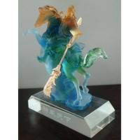 Pajangan Patung Guan Yu  Souvenir Kristal Kaca Ukuran Kecil Murah 5