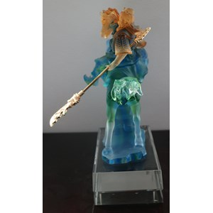 Guan Yu Statue Crystal Glass Souvenir For Small Size