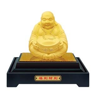Pajangan Patung Budha Mi Le Lapisan Emas 24K