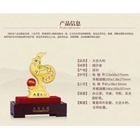 Distributor Pajangan Patung Ayam Lapisan Emas 24K Ukuran M 3