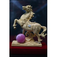 Pajangan Patung Kuda Lapisan Emas 24K Murah 5