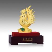 Patung Pajangan Ayam Lapisan Emas 24K Ukuran S 1