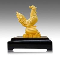 Pajangan Patung Ayam Lapisan Emas 24K Uk S Murah 5