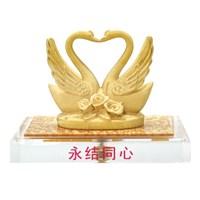 Souvenir Pernikahan Lapisan Emas 24K (Satu Hati)