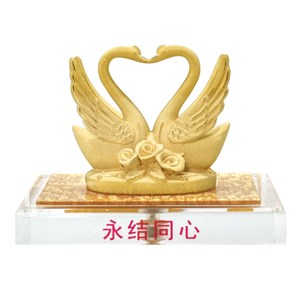 24 k Gold Coating a wedding gift (one heart)