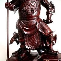 Pajangan Patung Guan Yu Bahan Kayu  Murah 5