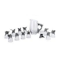Gelas Set 12 Shio Bahan Kristal Souvenir Premium