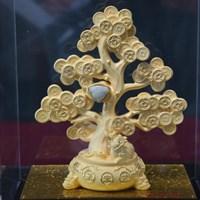 Distributor Pajangan Pohon Keberuntungan Lapisan Emas  3