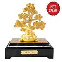 Pajangan Pohon Keberuntungan Lapisan Emas