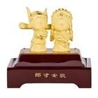 Souvenir Pernikahan Patung Boneka Lapisan Emas Dekorasi Rumah 3