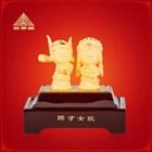 Souvenir Pernikahan Patung Boneka Lapisan Emas Dekorasi Rumah 1
