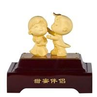 Souvenir Pernikahan Patung Lapisan Emas Boneka Cou
