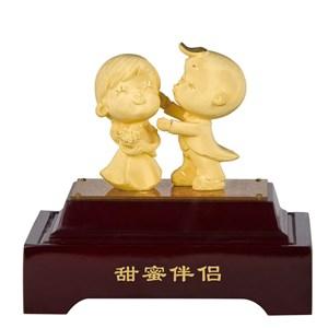 Souvenir Pernikahan Patung Lapisan Emas Boneka Couple