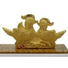 Souvenir Pernikahan Sepasang Yuanyang(Bebek) Lapisan Emas 1